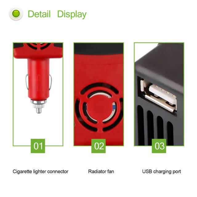 Onever Inverter 12v 220v 150W Power Inverter DC To AC 12V To 220V Car Voltage Converter Automobiles Inversor with USB Charger