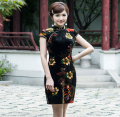 Hot sale!Retro mordern Sexy Chinese tang suit Qipao costumes,dragon Phoenix short cheongsam dresses Chinese traditional dresses