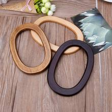 Wooden Handles Handbag Hanger Replacement For Bag Handbags Purse Shopping Tote DIY Purse Bag Accessories(China)