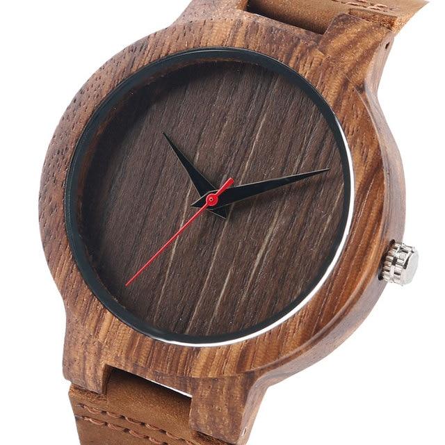 3f031d266195d4 Zegarek Męski wykonany z Drewna Bambusowego