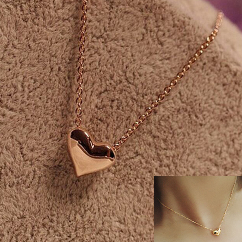 2016hot Sale Collares Collier Korean Fashion Lovely Peach Heart Necklace Clavicle Chain Sweet Love Jewelry Pendant Free Shippin