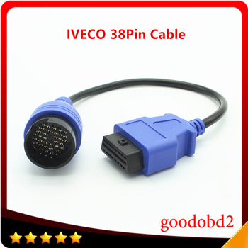 For Benz  IVECO 38Pin Cable OBD2 Diagnostic tool Adapter Connector  Diagnostic Trucks Interface Scanner Cable OBDII 16PIN xhorse hds cable for honda diagnostic cable auto obd2 hds cable