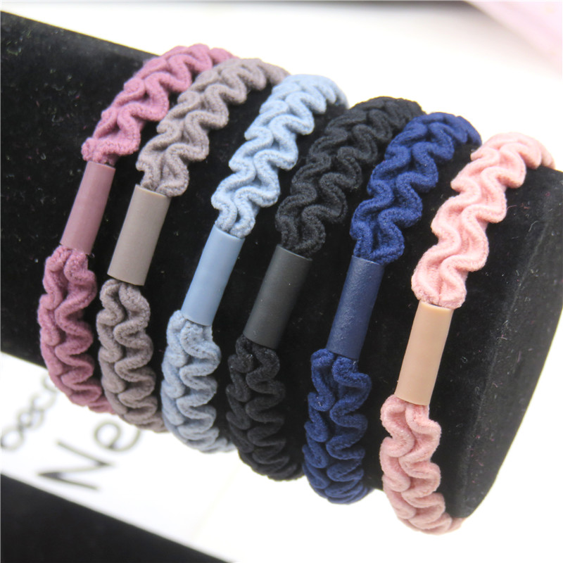 1PCS Simple Lace 6 Colors Elastic Hair Bands For Girls Bohemian Headband Scrunchy Korean Bow Kids Hair Accessories For Women NEW