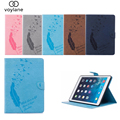 Case para ipad air, crazy horse pu leather case smart cover folio de pie con auto sleep/wake cubierta con ranuras para ipad 5/air