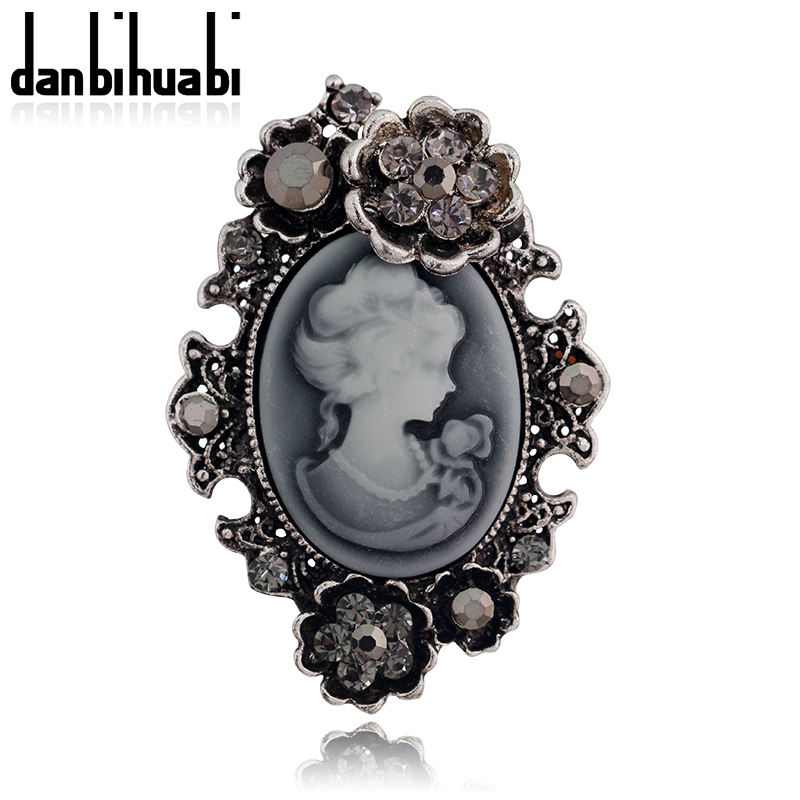 Aliexpress.com   Buy Cameo Brooch Silver Gold Vintage Brooches Pretty  Beauty Queen Rhinestone Pin For Women Luxurious Palace Jewelry Accessories  from ... 80332651899d