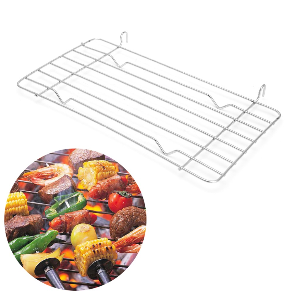 1 PC Charcoal Barbecue Grill Grid Replace Steaming BBQ Metal Wire Mesh Rack 26x13cm Outdoor Camping Cooking BBQ Tools