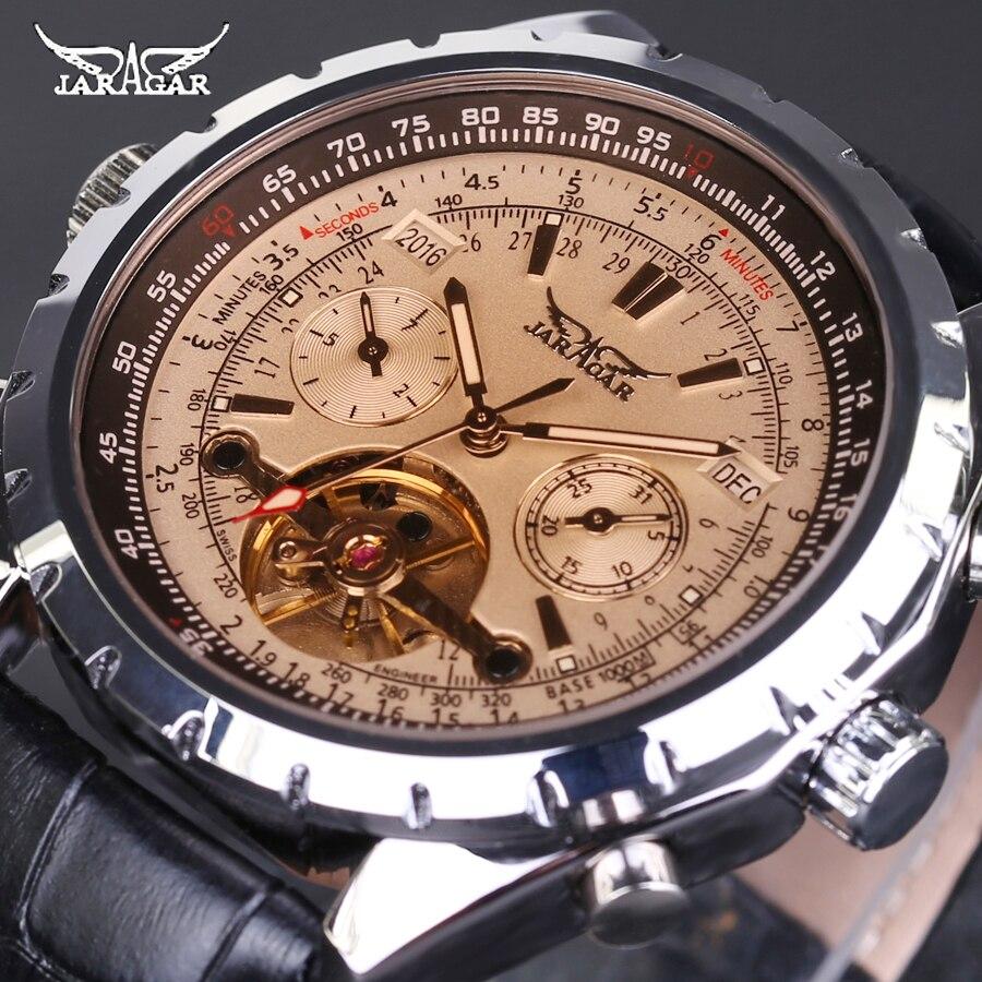font b JARAGAR b font Men Mechanical Watch Luxury Automatic Tourbillon Watch Calendar Day Week
