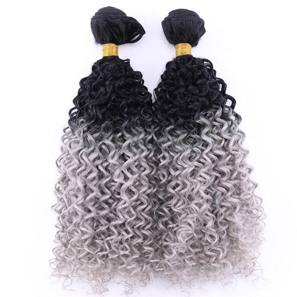 Afro kinky cabelo encaracolado tecer 2 pçs