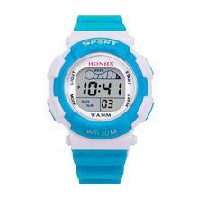 Творческий красочная детская Винтажные часы Обувь для мальчиков Мода цифровой светодиодный спортивные часы Дети сигнализации Дата Водонепроницаемый часы подарок