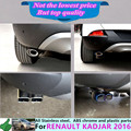 High Quality For Renault Kadjar 2016 Styling cover muffler exterior end tail pipe dedicate stainless steel exhaust tip tail 1pcs
