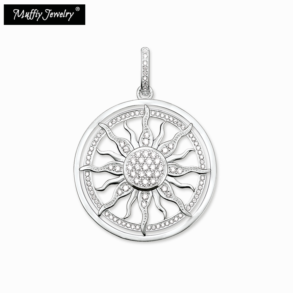 White Sun Pendant,Thomas Style Glam Fashion Good Jewerly For Women,2018 Ts Gift In 925 Sterling Silver,Super Deals