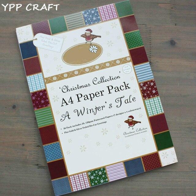Buch Geschenk Weihnachten.Us 13 85 15 Off Ypp Handwerk Weihnachten Sammlung Dekorative Geschenkpapier Buch Mischentwürfe Festival Geschenk Verpackung Papier Kit 30