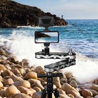 Commlite CS R700 4 Time Mini Camera Video Slider Track Rail Support Panning Linear Motion w/Ball Head/Holder for DSLR Smartphone