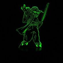 HOT SALE Star War 3D LED USB LED Lamp Vader Figure Master Yoda Jedi Leader Sword Warrior Multicolor Night Light Table Decorative