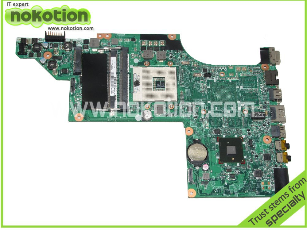 NOKOTION 630281-001 Laptop motherboard For Hp DV6-3000 DV6T Intel hm55 DDR3 Socket PGA989 Good Quanlity Tested 574680 001 1gb system board fit hp pavilion dv7 3089nr dv7 3000 series notebook pc motherboard 100% working