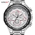 2016 LONGBO Hombres Relojes de Lujo Superior de la Marca de Acero llena de Relojes de pulsera de Cuarzo Con Estilo Hombre Reloj Reloj Militar del relogio masculino 8830