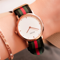 GUOU Men Women Minimalist Canvas Watches Fashion Luxury Brand Ladies Leather Dress Wrist Watch Women Clock