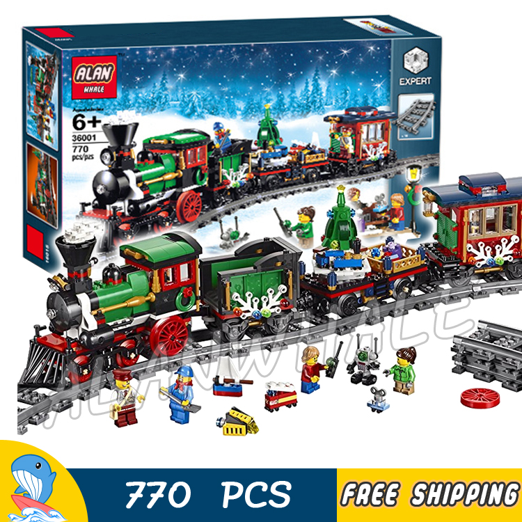 770pcs Creator Expert Winter Holiday Trains Classical 3D Model Building Blocks Assemble  ...