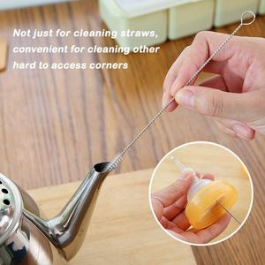 Image 5 - FUHAIHE 100pcs/lot brushes for reusable plastic straws Eco friendly stainless steel straw brush 20cm