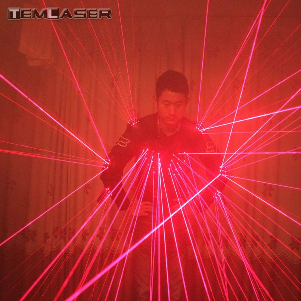 Livraison Gratuite Rouge Laser Gilet LED Vêtements, Costumes Laser, 650nm Laser Homme Costumes Pour Discothèque Artistes