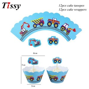 Image 4 - 1Set Construction Tractor Theme Inflatable Balloons Truck Vehicle Banners Cake Decor Baby Shower Boys Birthday Party Supplies
