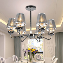 Post modern Italia style Iron Chandeliers Minimalist creative light restaurant cafe bar dinning room loft lighting