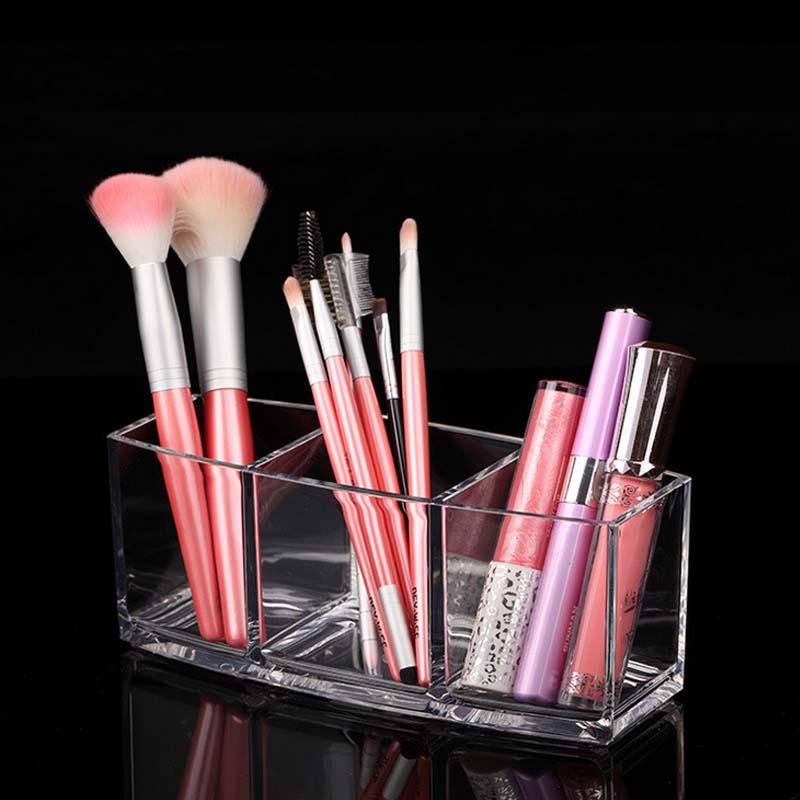 1PCS Acrylic Makeup Organizer Cosmetic Holder Makeup Tools Storage Box Organizadora Brush and Accessory Organizer Box