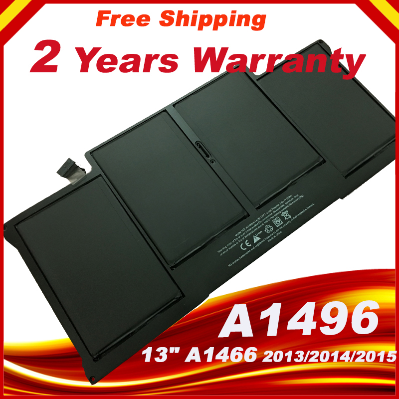 55Wh Laptop Battery For Apple Macbook Air 13'' A1466 Battery A1496  A1466  2013 2014 2015 Year