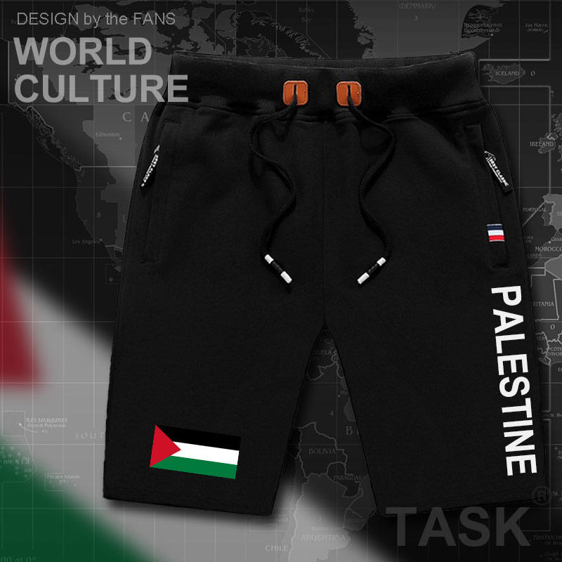 State Of Palestine Palestinian Mens Shorts Beach Man Men's Board Shorts Flag Workout Zipper Pocket Sweat Bodybuilding  PS PSE