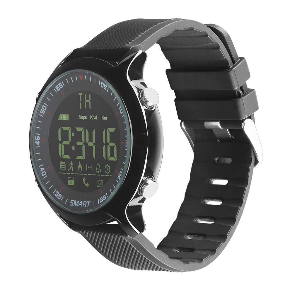 2018 New EX18 Waterproof Smart Watch Pedometer Clock Fitness Bluetooth Phone Message Push Sports Healthy SmartWatch makibes ex18 smart watch silver