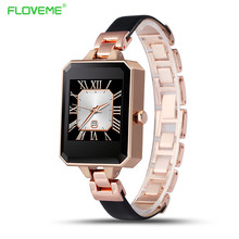 FLOVEME W7 Women Lady font b Smartwatch b font Genuine Leather Smart Watches Heart Rate Monitor
