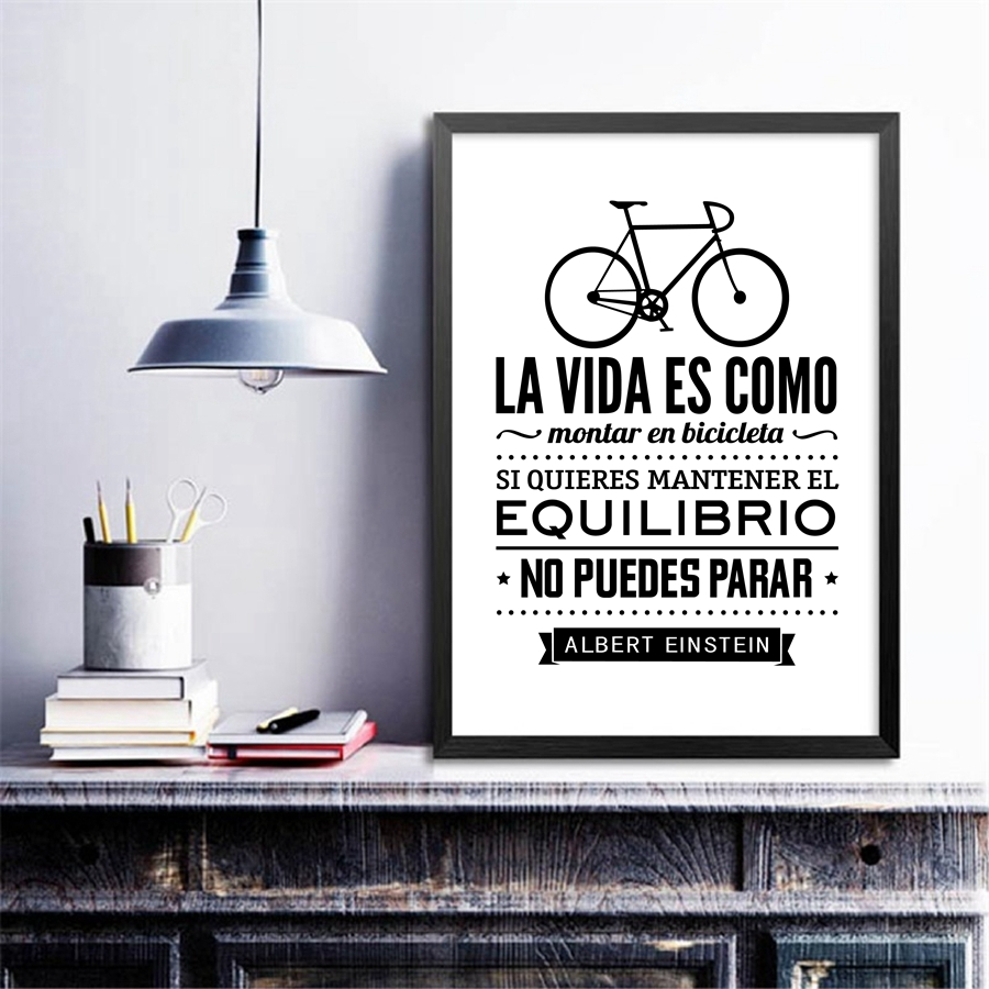 Poster In Spanish Us 2 57 20 Off Spanish Life Quote Canvas Art Print Poster Life Is Like A Bicycle Canvas Painting Poster Spanish Home Living Room Decoration In