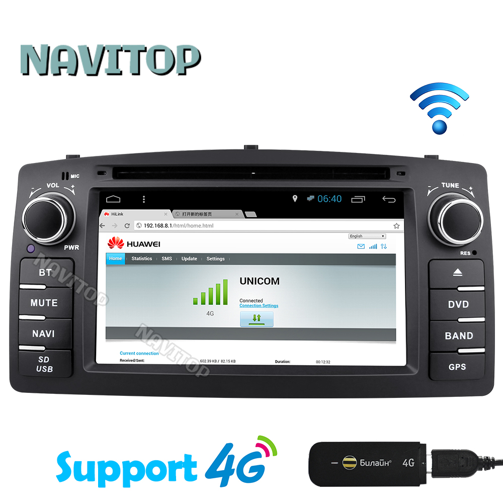 Navitop android 6 0 car dvd player gps for toyota corolla e120 byd f3 2003 2004 2005