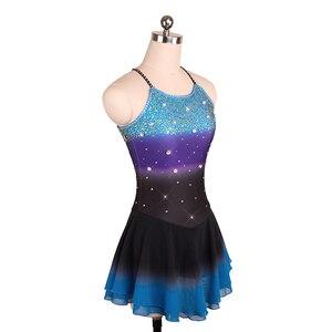 Image 3 - Nasinaya robe de patinage artistique concours personnalisé jupe de patinage sur glace pour fille femmes enfants Patinaje gymnastique Performance 208