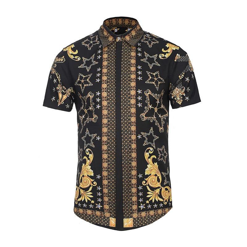 Summer Originality Decorative Pattern 3D Printing men short sleeve casual Shirt sleeveless slim Street Youth Fashion Shirt