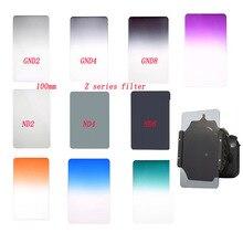 Foleto z series filtro quadrado de 100mm * 145mm, graduado nd2 4 8 vermelho, azul, laranja, densidade neutra para lee cokin z série pro titular
