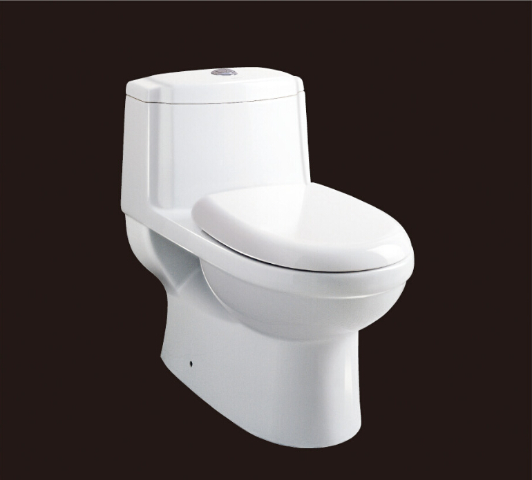 2016 new style water closet one piece S-trap ceramic toilets with PVC Adaptor and soft close seat cover AST222 UPC cerificate