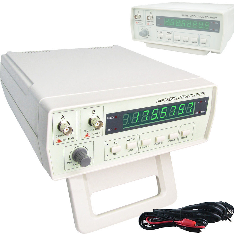 VICTOR VC3165 0.01Hz-2.4GHz Frequency Meter Digital Frequency Counter CF Meter English panel tp760 765 hz d7 0 1221a