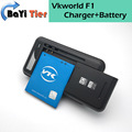 100% New Vkworld F1 Battery + Desktop Dock Wall Charger 1850mAh Lithium-ion Battery for Vkworld F1 Smartphone +in stock