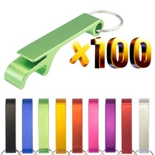 Lot 100pcs Free Customized Aluminium Portable Can Opener Key Chain Ring Can Opener Restaurant Promotion Giveaway  Logo Gifts