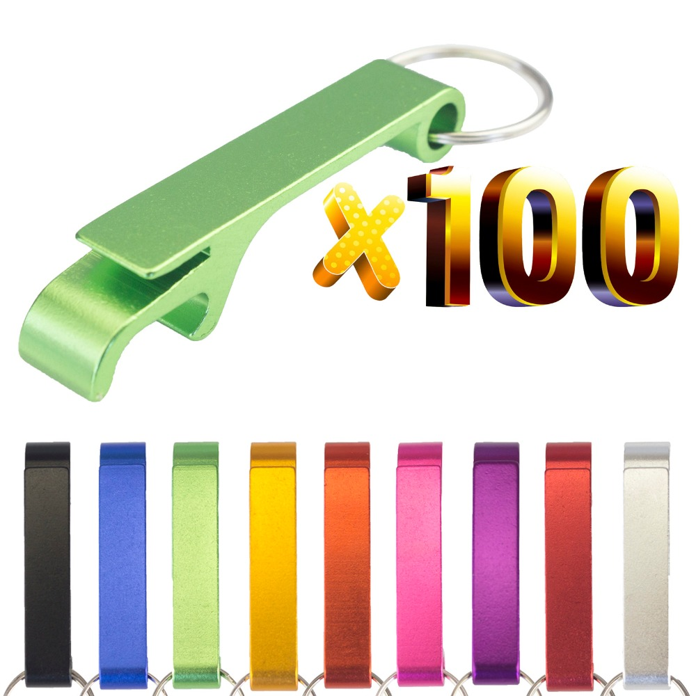 Lot 100pcs Free Customized Engrave Aluminium Portable Can  Opener,Key Chain Ring Can Opener,Restaurant Promotion Giveaway  GiftOpeners