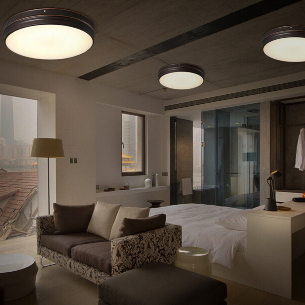 € 111.94 15% de réduction|2018 nouvelle lampe de plafond de chambre à  coucher moderne Simple nordique lampara Abajur bureau fer rond verre Led ...