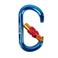 25KN на открытом воздухе Карабин O-shape форме, благодаря чему создается ощущение невесомости с автоматической блокировкой карабиновая альпинистская Пряжка h1