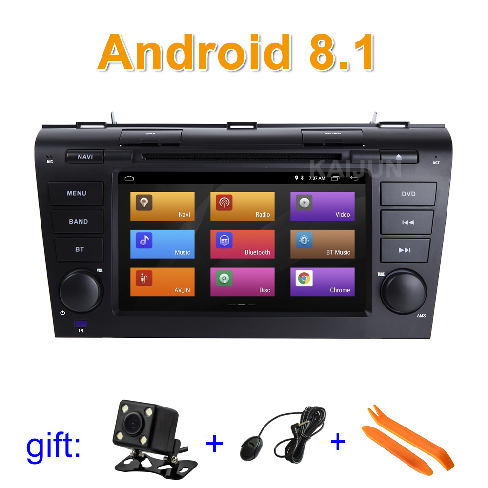 IPS screen Android 8.1 Car DVD Player Stereo Radio for Mazda 3 Mazda3 2004 2009 with WiFi BT GPS Navigation