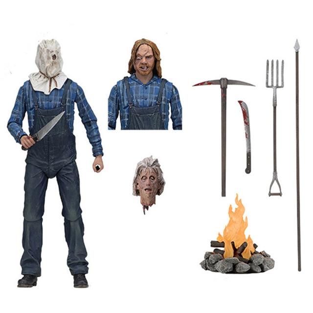 NECA Friday the 13th Part 2 18 centímetros Horror Jason Voorhees Ações PVC Figura Collectible Modelo Brinquedos