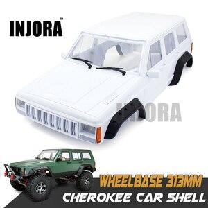 Image 1 - INJORA sert plastik 12.3 inç 313mm dingil mesafesi Cherokee vücut kabuk için 1/10 RC paletli eksenel SCX10 ve SCX10 II 90046 90047