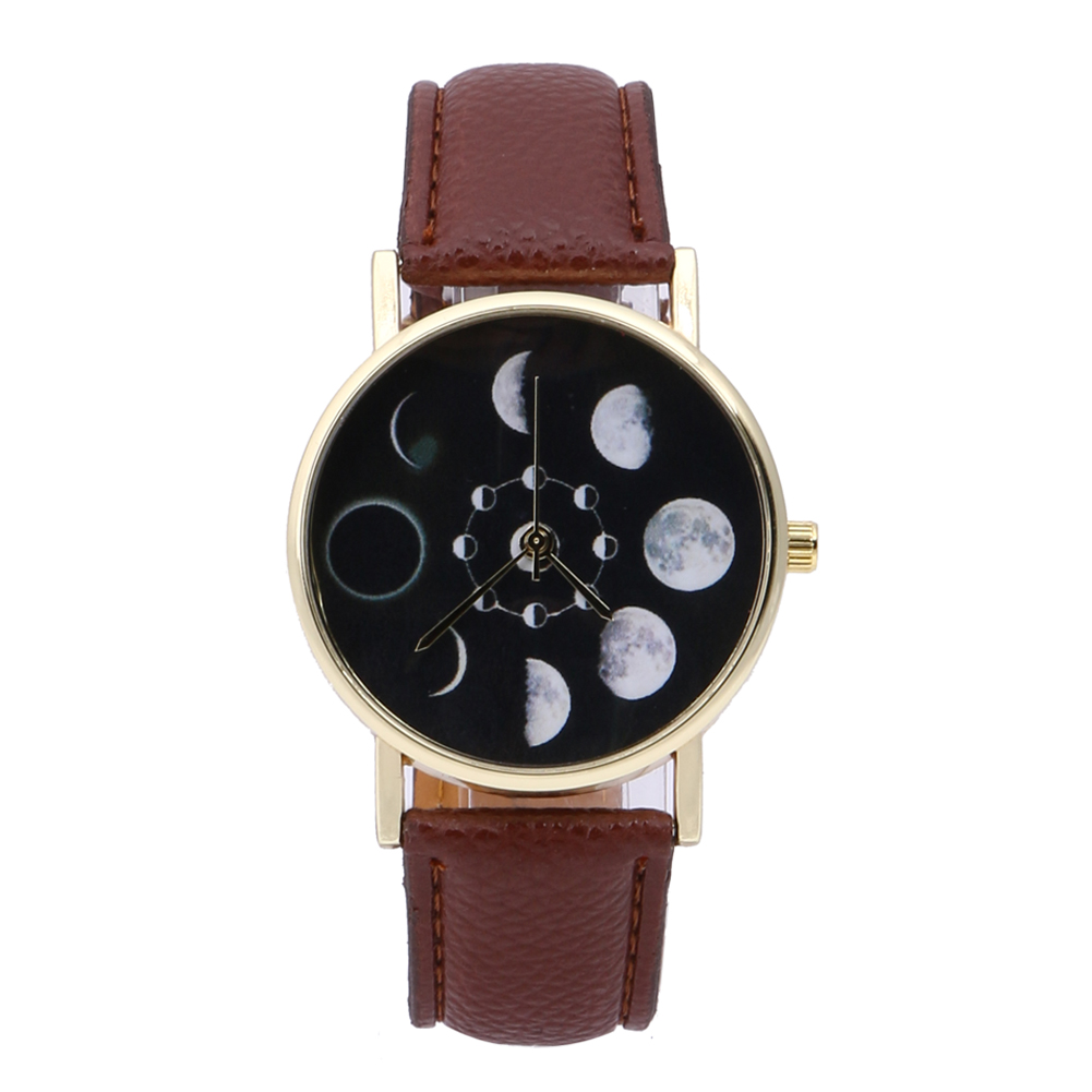 2019 New Brand Solar Watch Women Eclipse Phenomenon horloge Fashion - Dameshorloges - Foto 3