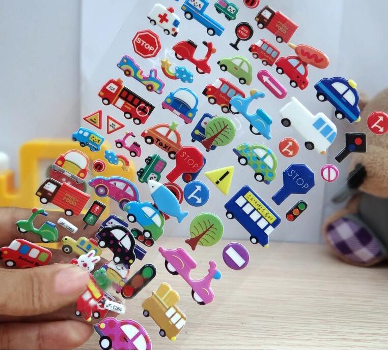 50pcs / lot niños pegatinas juguetes clásicos patrones mixtos para - Juguetes clásicos - foto 3