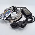 5M RGB LED Strip 5050 Waterproof 60led/m Flexible LED Light  DC 12V + IR Remote Controller + Power Adapter