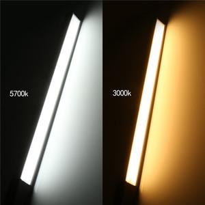 Image 3 - LED الجليد ضوء التصوير الفوتوغرافي المعادن المحمولة فيديو استوديو أضواء التصوير الفيديو مع جهاز التحكم عن بعد ، 2 درجات حرارة اللون 2g7